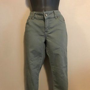 Blue Spice Army Green Skinny Ankle Pants